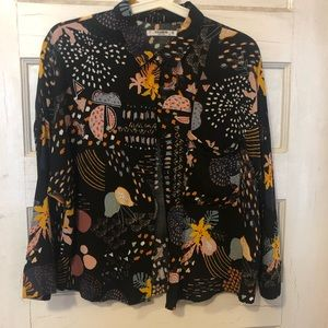 Pull & Bear Quirky Pattern 3/4 Sleeve Button-Up